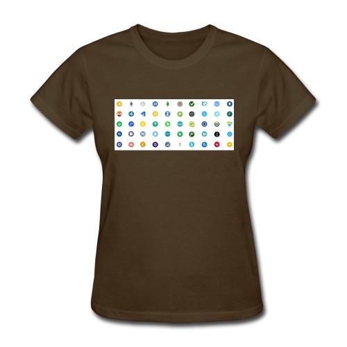 1 Crypto icons - Women's T-Shirt