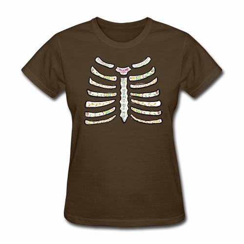 dia de muertos ribcage2 - Women's T-Shirt