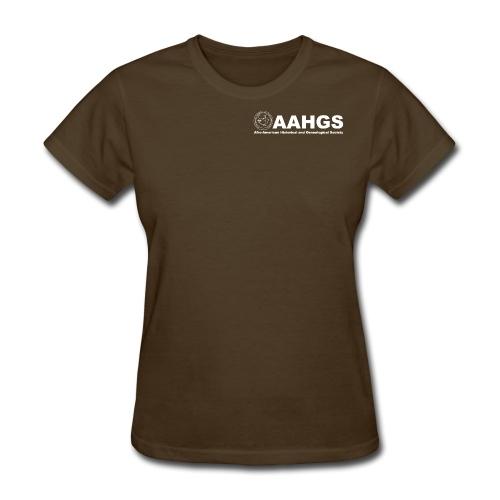 AAHGS logo closeup trans white - Women's T-Shirt