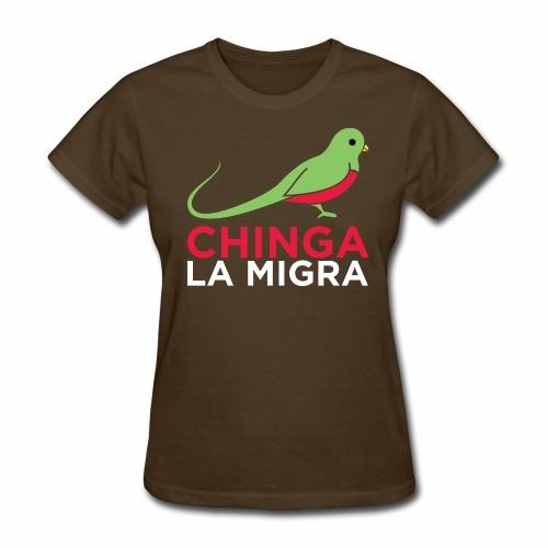 El quetzal dice que Chinga La Migra - Women's T-Shirt