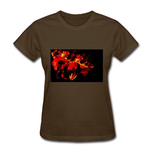 flaming horse - Women's T-Shirt
