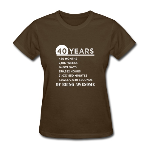 40th Birthday Gifts 40 Years Old of Being Awesome - Women's T-Shirt