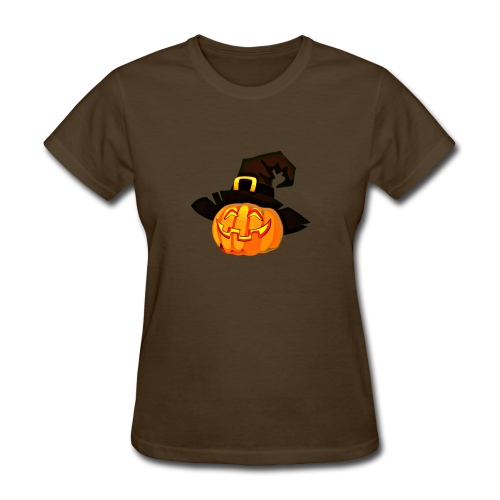 Funny Pumpkin lantern with a hat - Women's T-Shirt