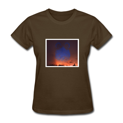 sunset floating buns - Women's T-Shirt