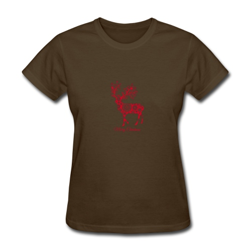 Christmas deer with snowflakes pattern New - Women's T-Shirt