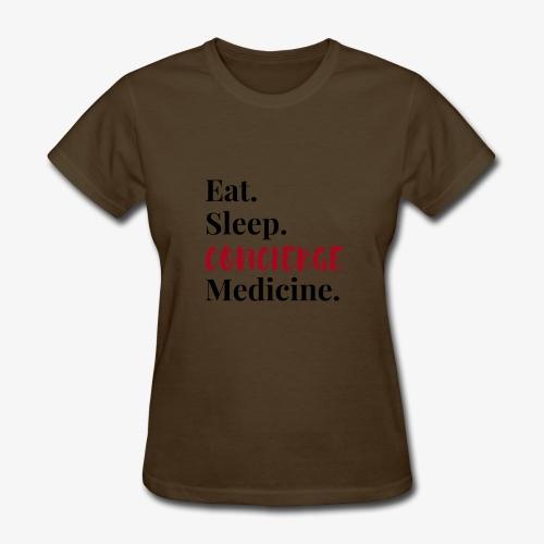 Eat Sleep Concierge Medicine - red - Women's T-Shirt