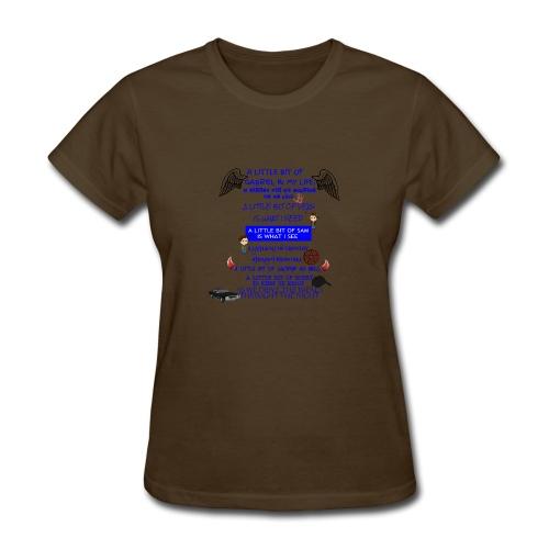 Supernatural song spoof shirt - Women's T-Shirt