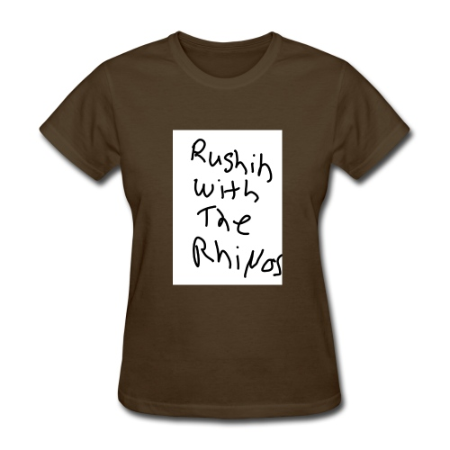 rushing with the rhino's - Women's T-Shirt