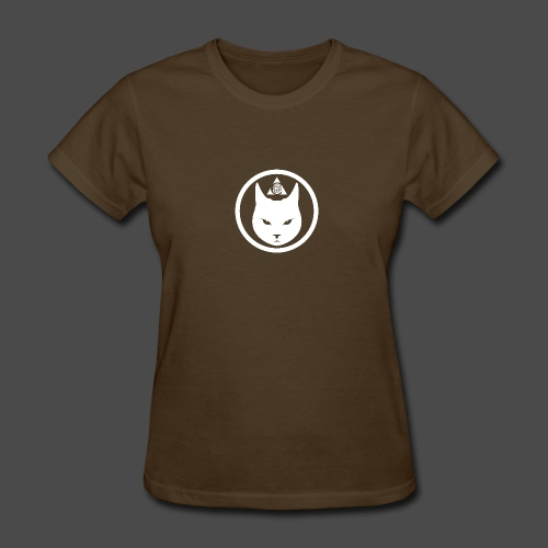 Cat Head Logo White - Women's T-Shirt