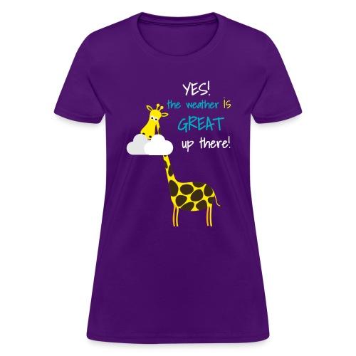 Funny Giraffe T-shirt for men women kids - Women's T-Shirt