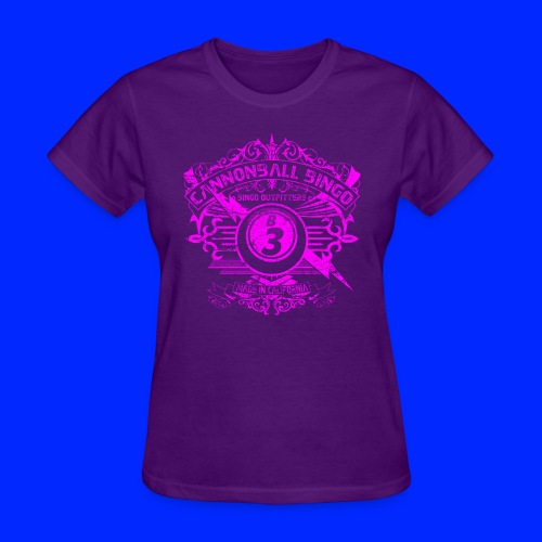 Vintage Cannonball Bingo Crest Pink - Women's T-Shirt
