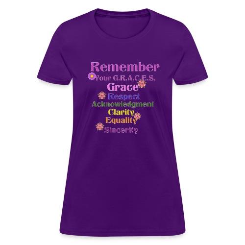 Remember Your GRACES - Women's T-Shirt