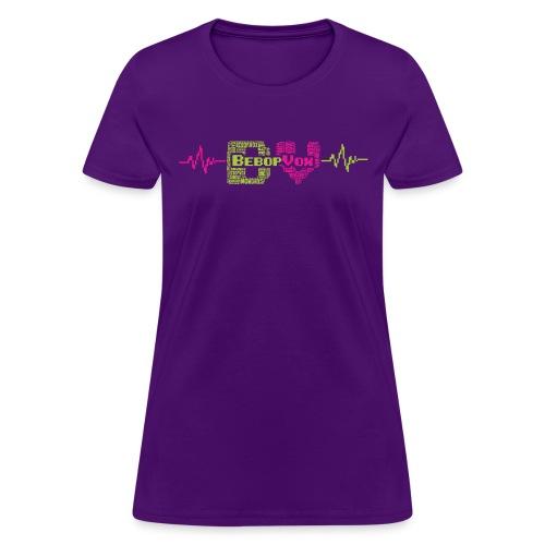 bebopvoxtextinsidetext - Women's T-Shirt