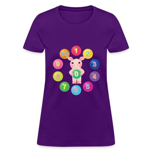 Numbers Pig - Women's T-Shirt
