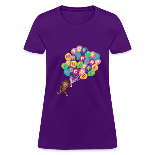 Balloons Monkey - Women's T-Shirt