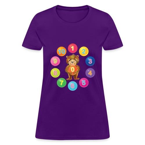 Numbers Bear - Women's T-Shirt