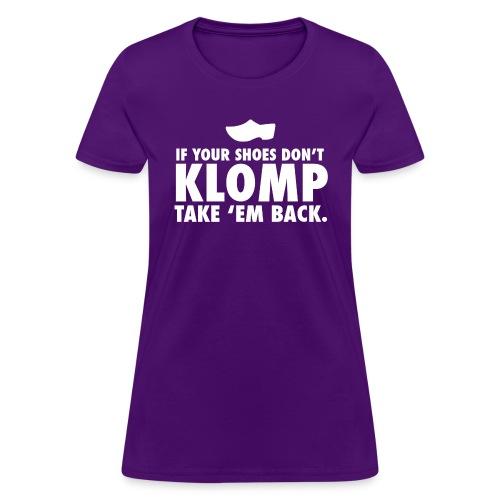 08 Klomp white lettering - Women's T-Shirt