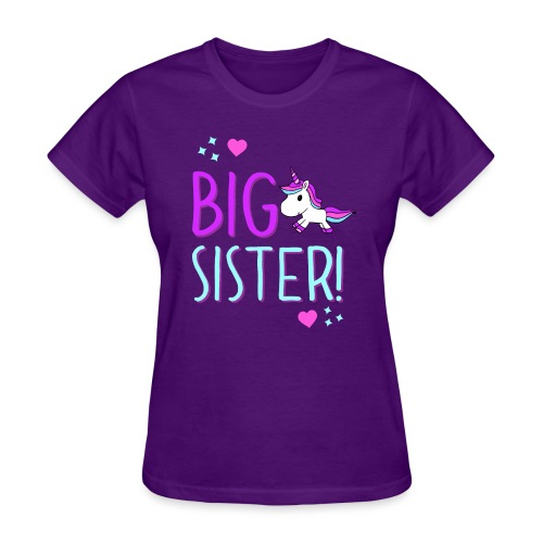 Big Sister Unicorn Design! - Women's T-Shirt