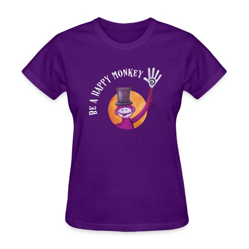Be A Happy Monkey - Women's T-Shirt