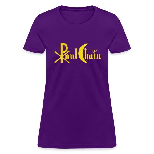 Paul Chain Coffee Mug ~ Yellow on Red - Women's T-Shirt