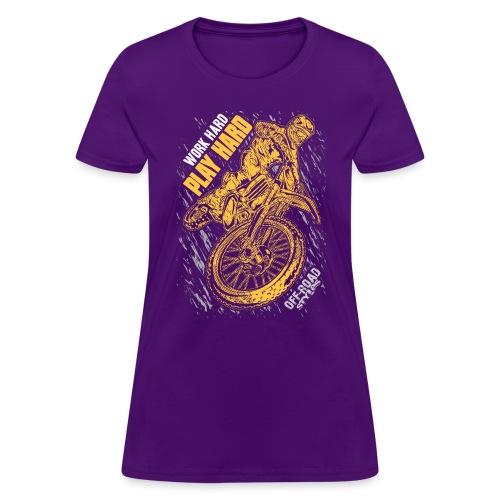 MX Play Hard Orange - Women's T-Shirt