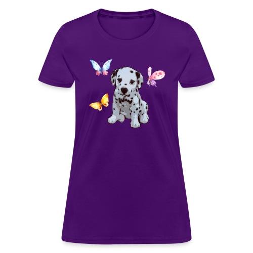 Dalmatian with Butterflies shirt - Women's T-Shirt