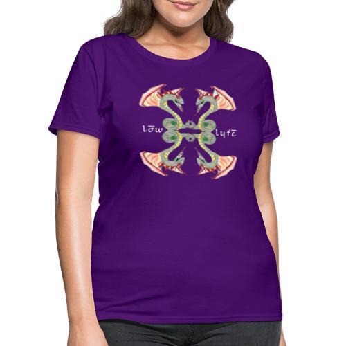 Lowlyfe Logo w/ Exterior Text - Women's T-Shirt