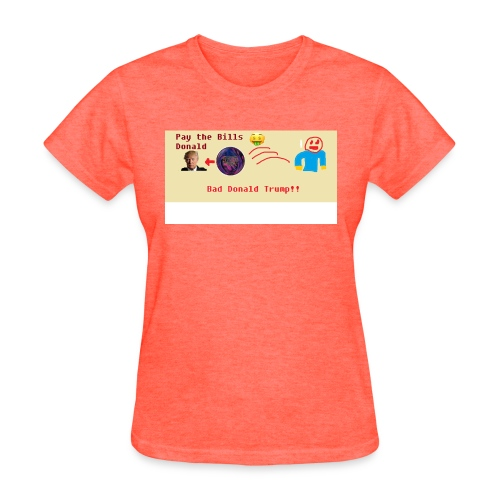 donald trump gets hit with a ball - Women's T-Shirt