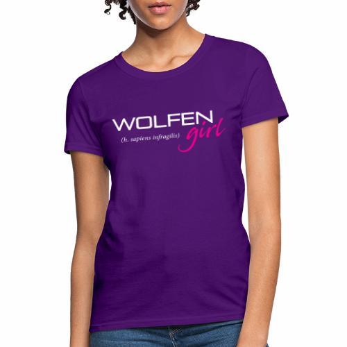 Wolfen Girl on Dark - Women's T-Shirt