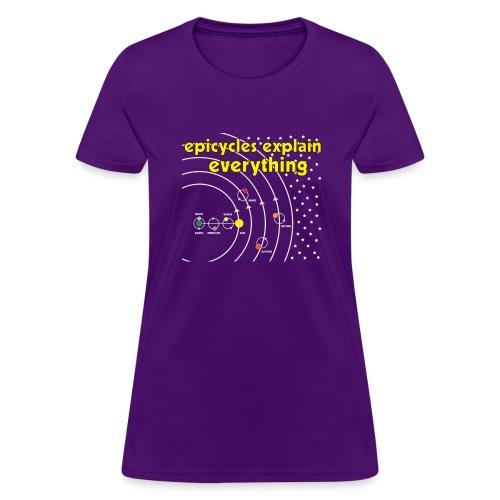 geocentric universe2 - Women's T-Shirt