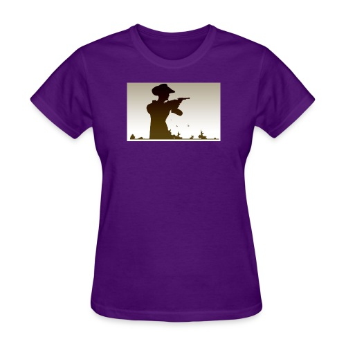 Western PUBG Man - Women's T-Shirt