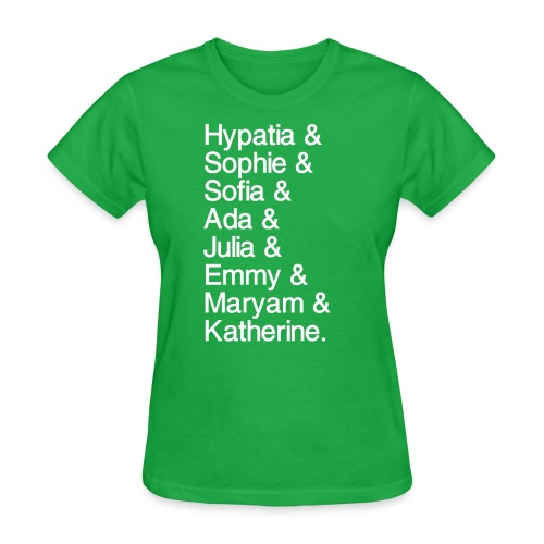 Women in Mathematics (with space before &) - Women's T-Shirt