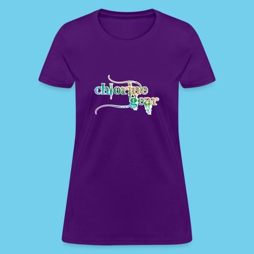 Chlorine Gear Text Rainbow warrior - Women's T-Shirt