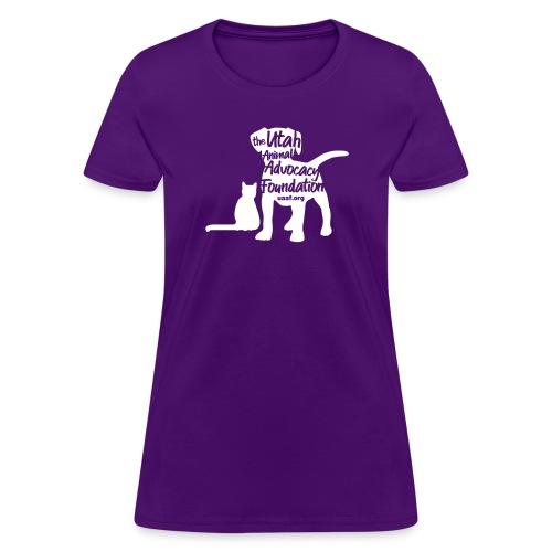 uaaf dog shirt logo white - Women's T-Shirt