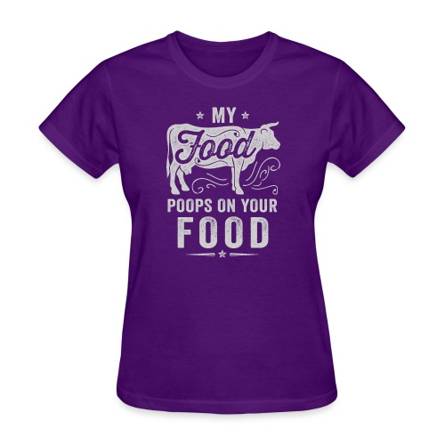 My Food Poops on Your Food - Women's T-Shirt