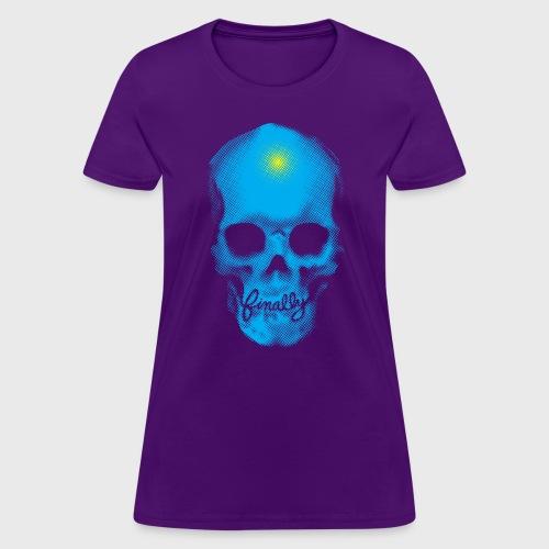 Finally Skull Cyan - Women's T-Shirt