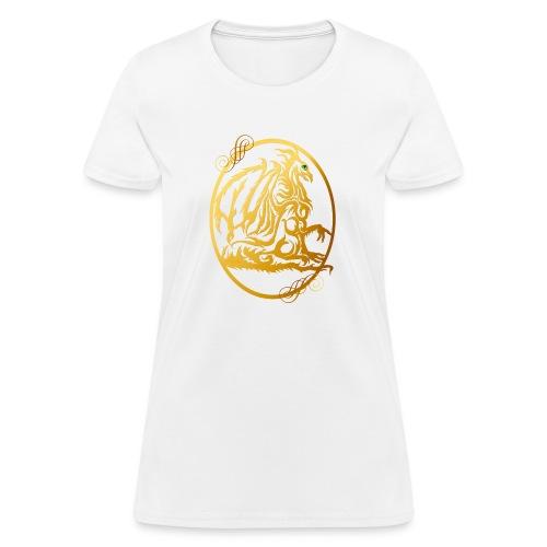 Gold Dragon Oval Design - Women's T-Shirt