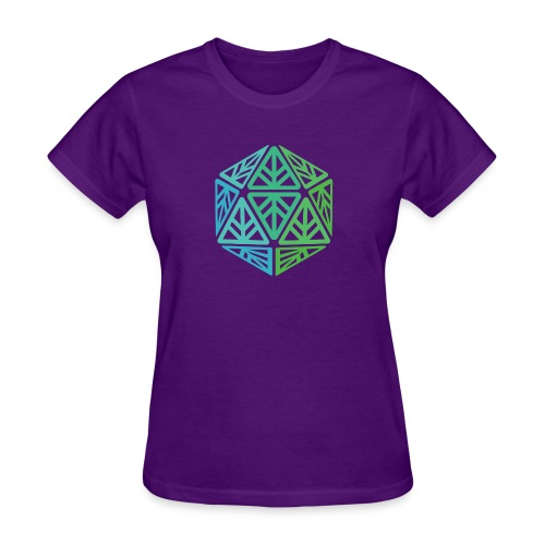 Green Leaf Geek Iconic Logo - Women's T-Shirt