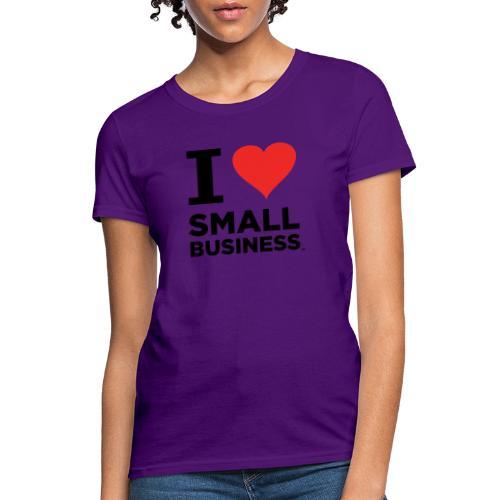 I Heart Small Business (Black & Red) - Women's T-Shirt