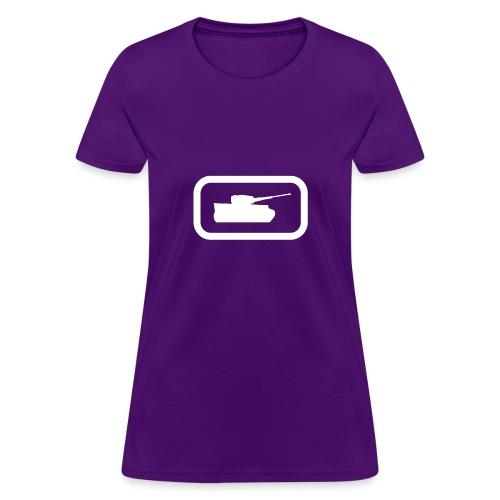 Tank Logo (White) - Axis & Allies - Women's T-Shirt