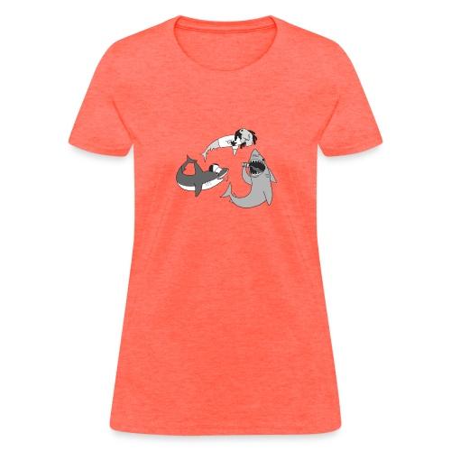Party Sharks - Women's T-Shirt