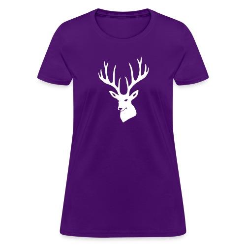 stag night deer buck antler hart cervine elk - Women's T-Shirt