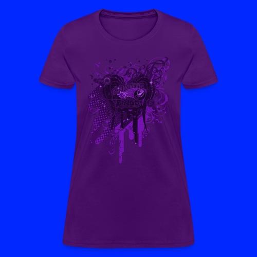Vintage Cannonball Bingo Drip Purple - Women's T-Shirt