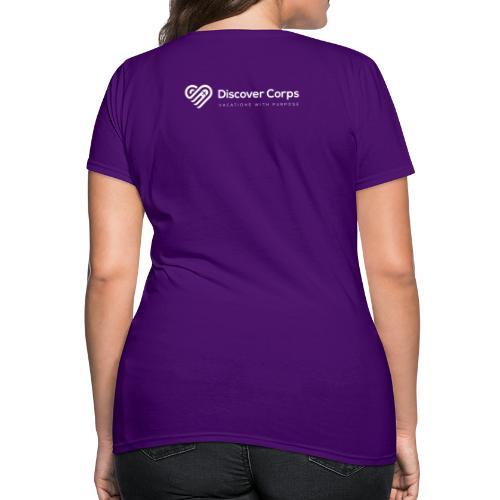 DiscoverCorp Logo Horizontal Rev High white - Women's T-Shirt
