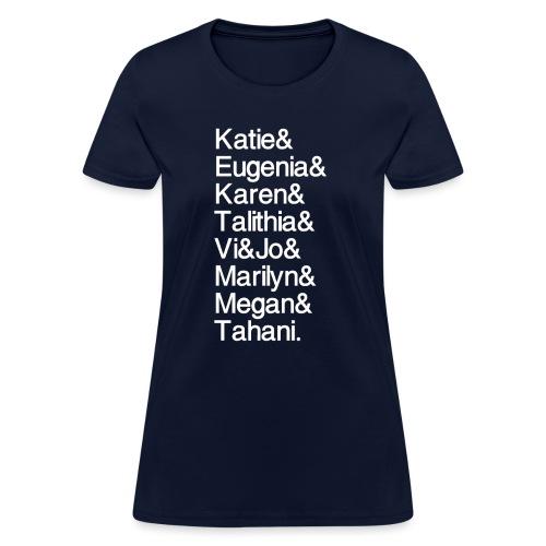 MathGals & Megan with hashtag - Women's T-Shirt