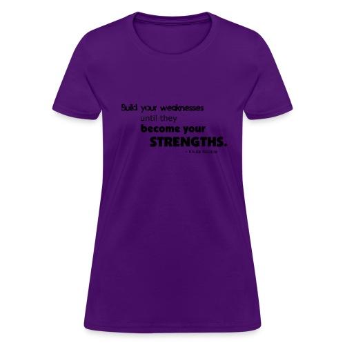 Build Your Weaknesses - Women's T-Shirt