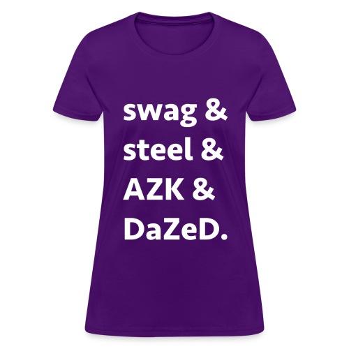 ssad white letters - Women's T-Shirt