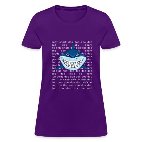 Shark T-shirt Doo Doo Doo - Father's Day Gift Tee - Women's T-Shirt