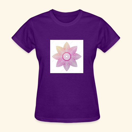 93874310 floral mandala round ornament for adult c - Women's T-Shirt