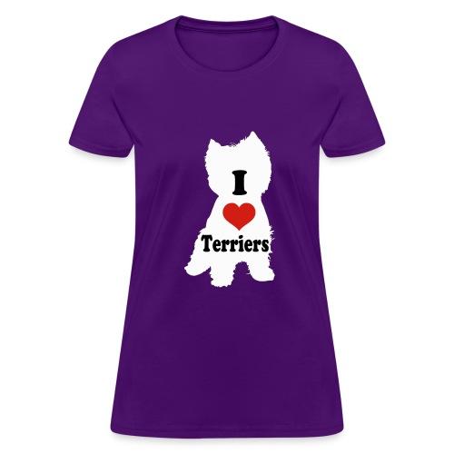 I Heart Terriers - Women's T-Shirt